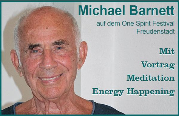 Michael Barnett at the One Spirit Festival